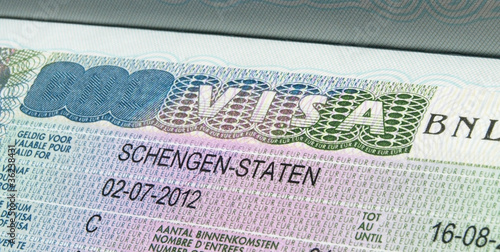 Fotografie, Obraz  Schengen visa