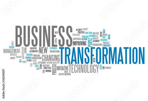 """Fotografía  Word Cloud """"Business Transformation"""""""