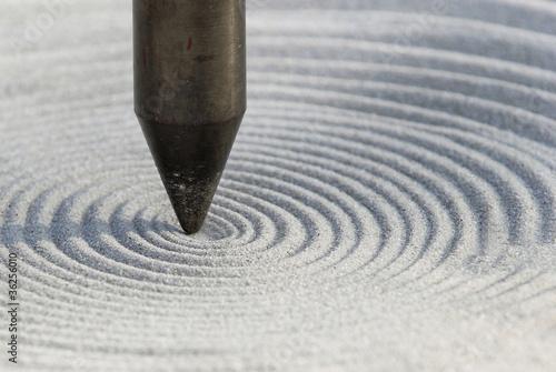 Doppelrollo mit Motiv - Sand Yoga Pendel (von PapadoXX)
