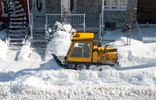 Yellow Snowplough Removing Sno...