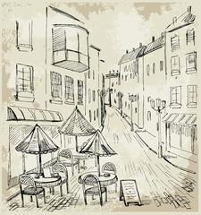 Fototapeta Do cukierni Street cafe