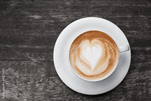 Cappuccino mit Herz #36279492
