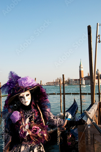 Stickers pour porte Venise Maschera Mask venice venezia
