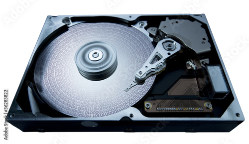 Leinwand Poster hard disk and data