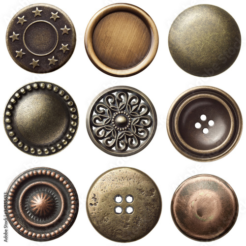 Cadres-photo bureau Macarons Vintage buttons