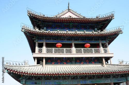 Foto op Plexiglas Xian Ancient city wall of Xian, China