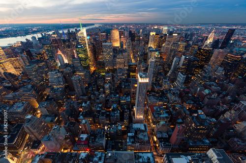 Fototapeta Nowy York z lotu ptaka