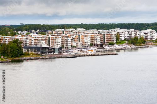 Photo  small swedish settlement in Stockholm suburb