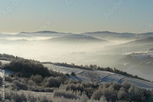 Fototapeta premium Beskid Niski z Grzywackiej Góry