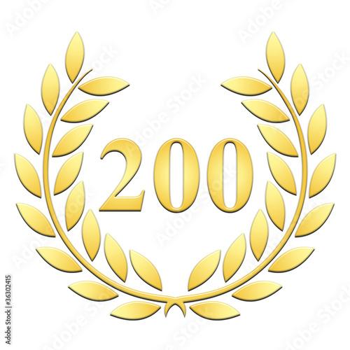 Tela  Lauriers 200 ans or en relief