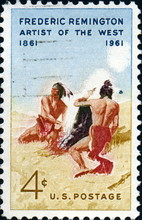 Frederic Remington, Artist Of The West. US Postage.