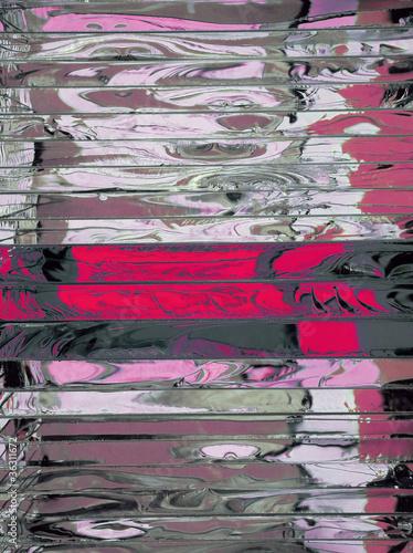 Poster Rijstvelden Red glass