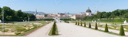 Fotografia Park near Belvedere Castle in Vienna
