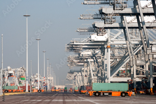Poster Antwerp Harbor shipping