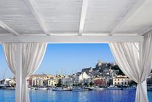 Ibiza Town View From White Gazebo