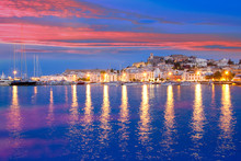 Ibiza Island Night View Of Eiv...