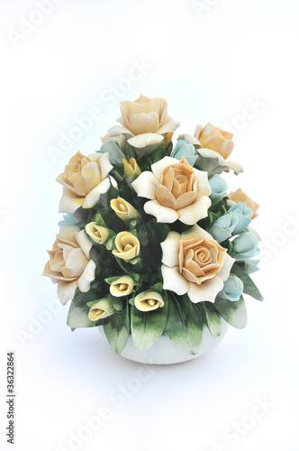 Valokuva  Composizione floreale porcellana di Capodimonte