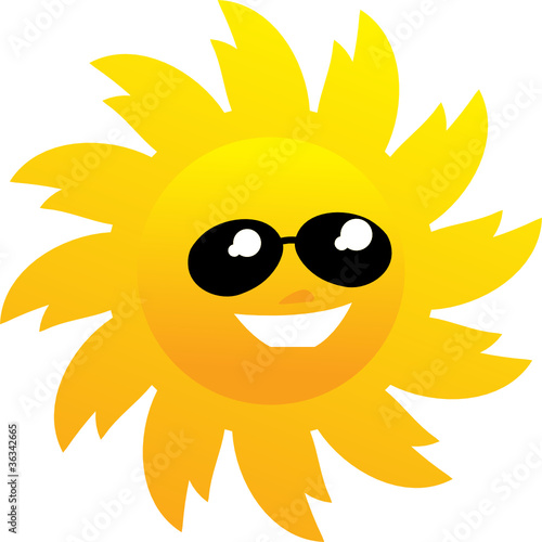 7087778b39 Smiling sun with sunglasses