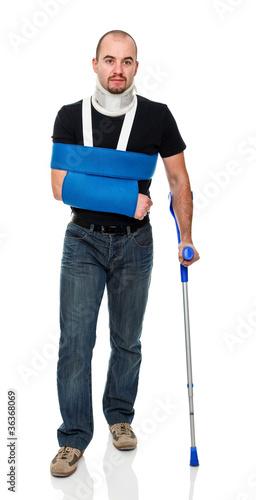Fotografija man with crutch