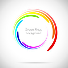 Rainbow Rings Background
