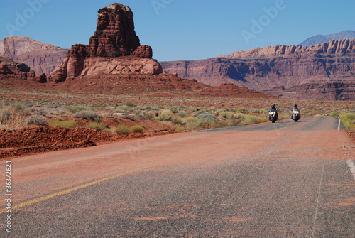 In de dag Route 66 desert riding