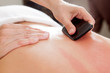 Leinwanddruck Bild - Gua-Sha Acupuncture Treatment on Back