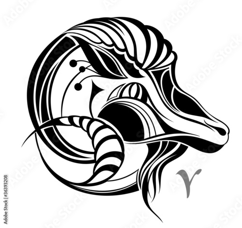 Aries zodiac vector sign - Buy this stock vector and explore
