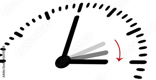 Uhr Uhren Zeit Termin Zeiger Zeitplan uhr umstellen 5 Canvas Print