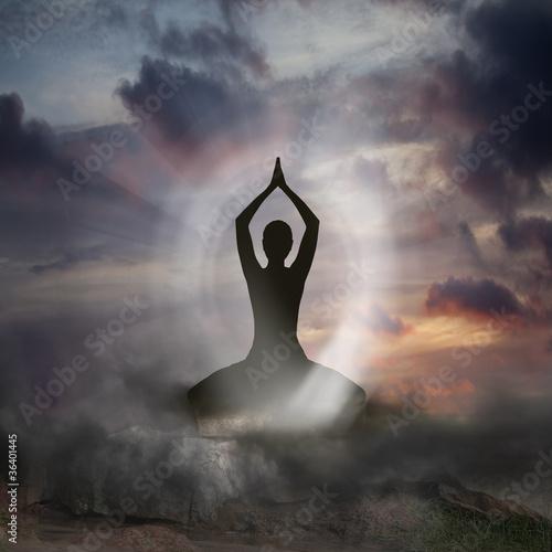 Yoga and Spirituality Canvas Print