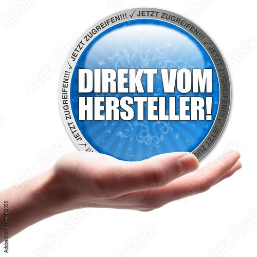 Fotografie, Obraz  Direkt vom Hersteller! Button, Icon