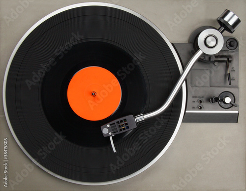 Record player with vinyl record Tablou Canvas