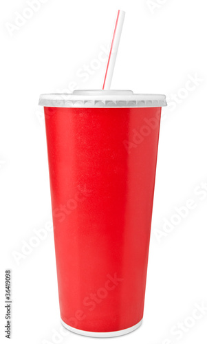 Fotomural Fast food drinking cup