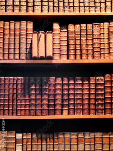 Spoed Foto op Canvas Bibliotheek Buchregal Antiquariat