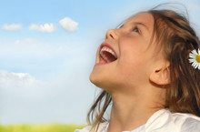 Little Girl Singing  Outside