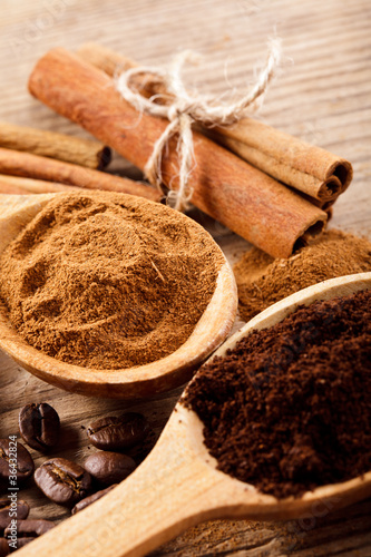Canvas Prints Condiments Coffee and cinnamon