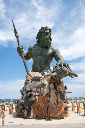 Fototapeta King Neptune Monument In Virginia Beach