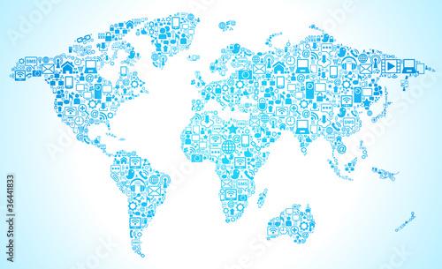 map symbol social media