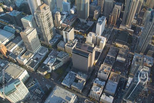 Fotografie, Obraz  Aerial View - Seattle Downtown