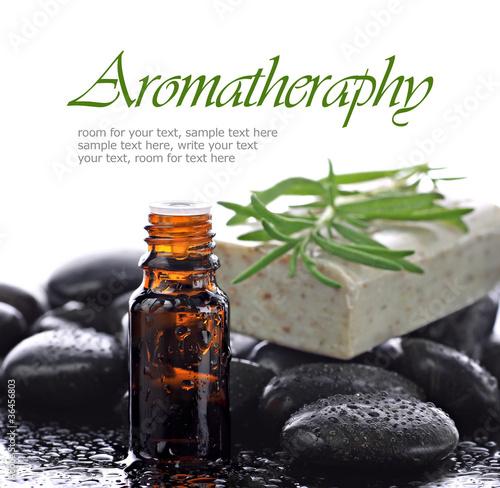 Fotografie, Obraz  Aromatherapy, natural essential oil border