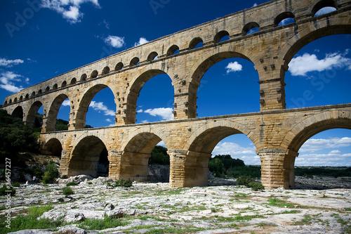 Staande foto Artistiek mon. Pont du Gard Aqueduct
