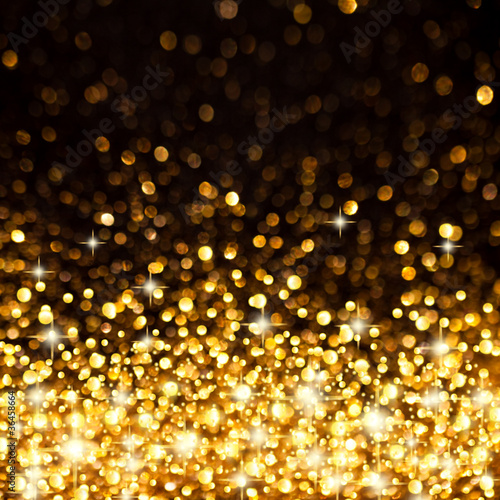 Fotografia  Golden Christmas Lights Background