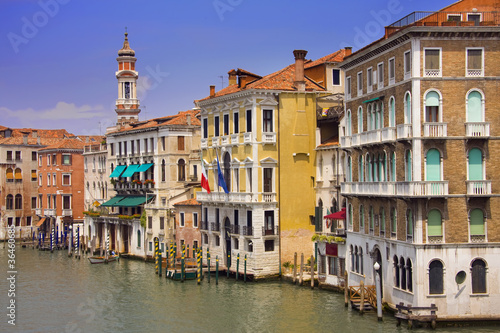 Fototapety, obrazy: colorful buildings along the canal in Venice