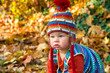 baby is crawling in the fall