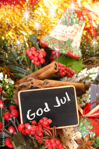 Frohe Weihnachten Schwedisch.Tafel Frohe Weihnachten In Norwegisch Und Schwedisch Mit