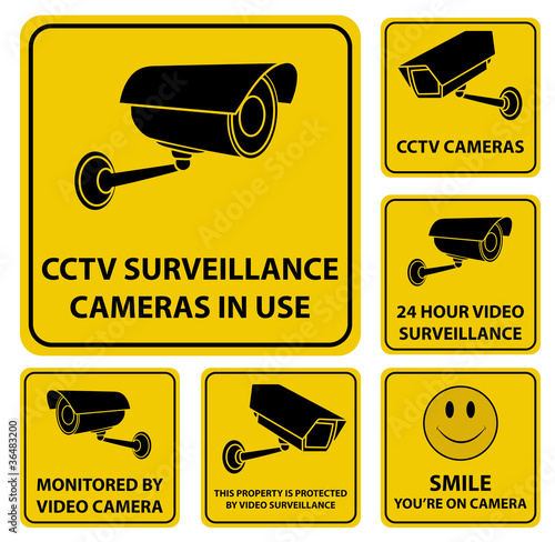 Surveillance Camera Signs