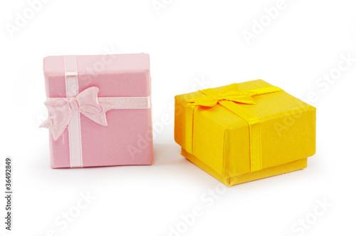 Staande foto Zuivelproducten Christmas box gifts