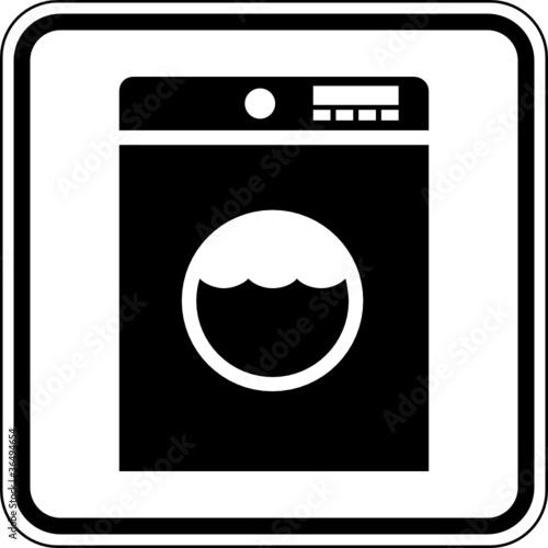 Waschmaschine Waschraum Schild Zeichen Symbol Buy This Stock