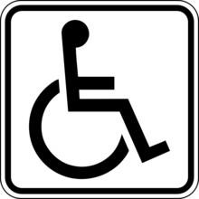 Toilette WC Klo Behinderte Rollstuhlfahrer Schild Zeichen