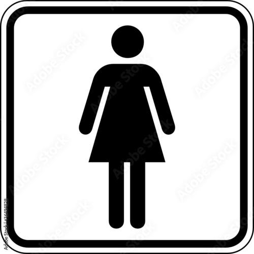 Toilette Wc Klo Damen Frauen Schild Zeichen Symbol Buy This