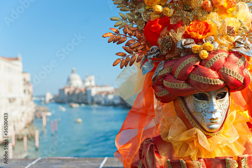 VENICE - MARCH 05: Participant in The Carnival of Venice, an ann